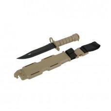 Штык-нож для винтовки M16\М4 TAN